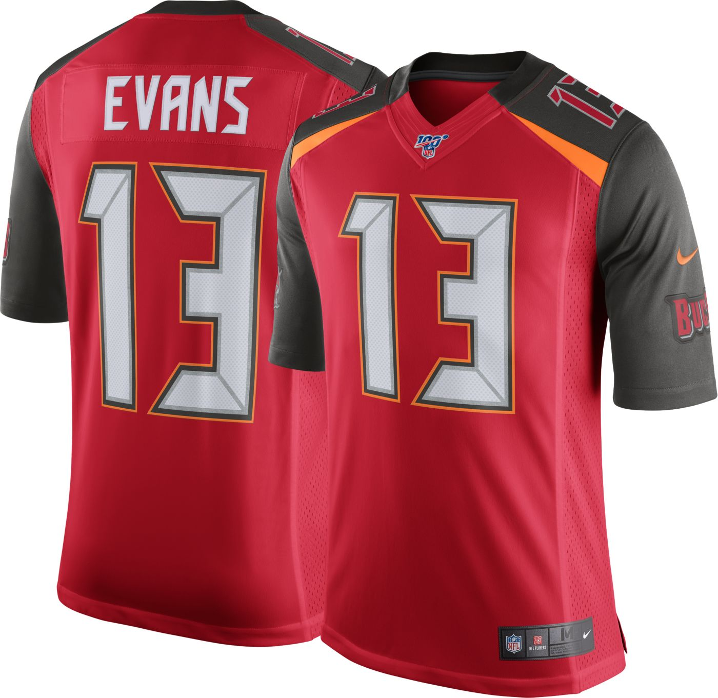 Nike Men's 100th Home Limited Jersey Tampa Bay Buccaneers Mike Evans #13
