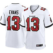 Nike Men's Tampa Bay Buccaneers Mike Evans #13 Away White Game Jersey