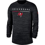 Nike Men's Tampa Bay Buccaneers Sideline Legend Velocity Black Long Sleeve Shirt