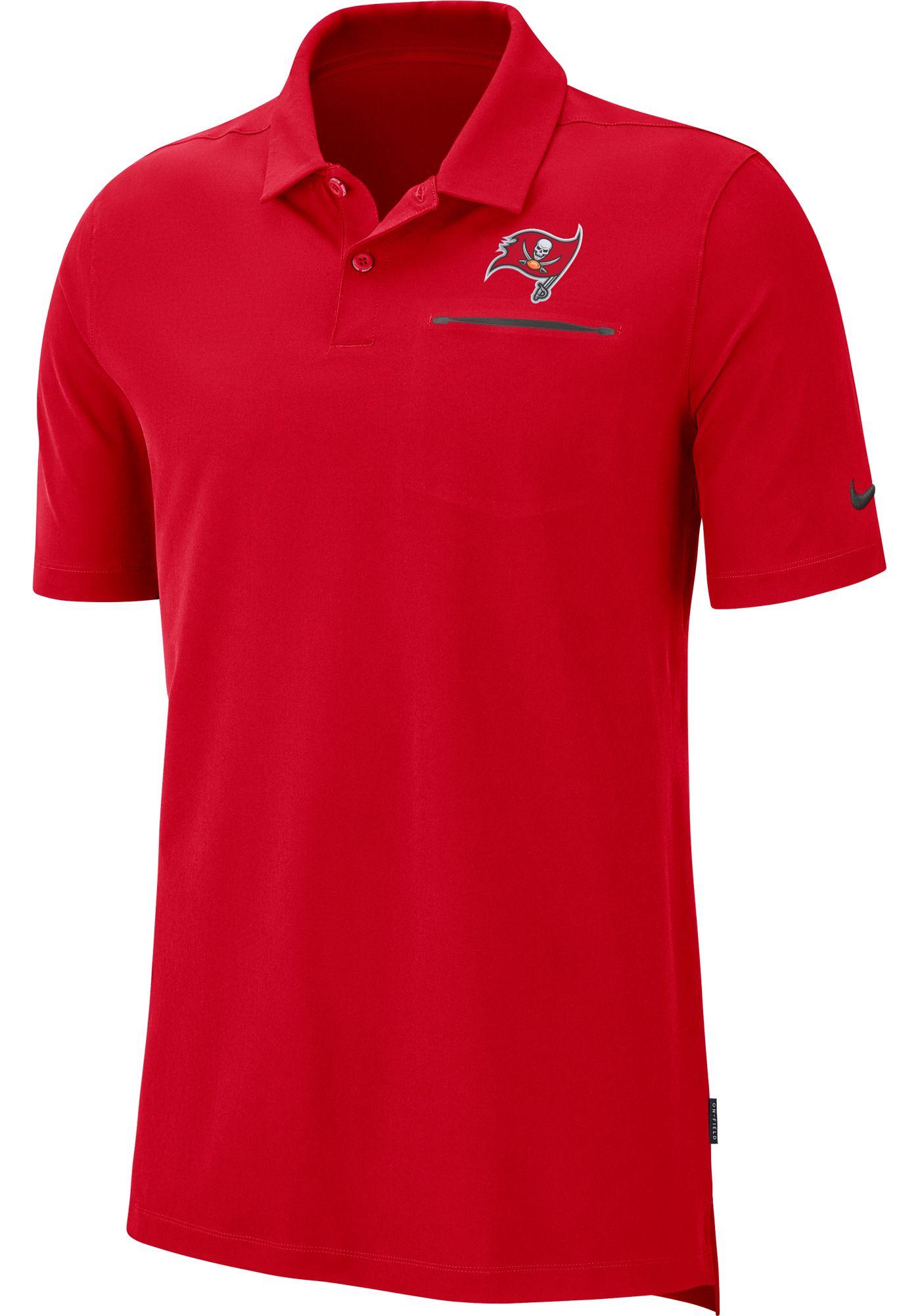 Nike Men's Tampa Bay Buccaneers Sideline Elite Performance Red Polo