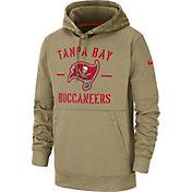 Nike Men's Salute to Service Tampa Bay Buccaneers Therma-FIT Beige Hoodie
