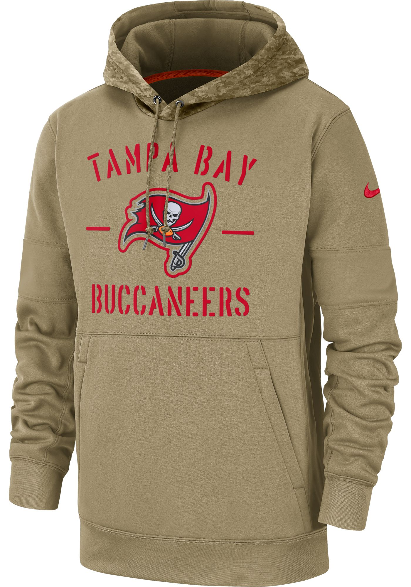 Nike Men's Salute to Service Tampa Bay Buccaneers Therma-FIT Beige Camo Hoodie