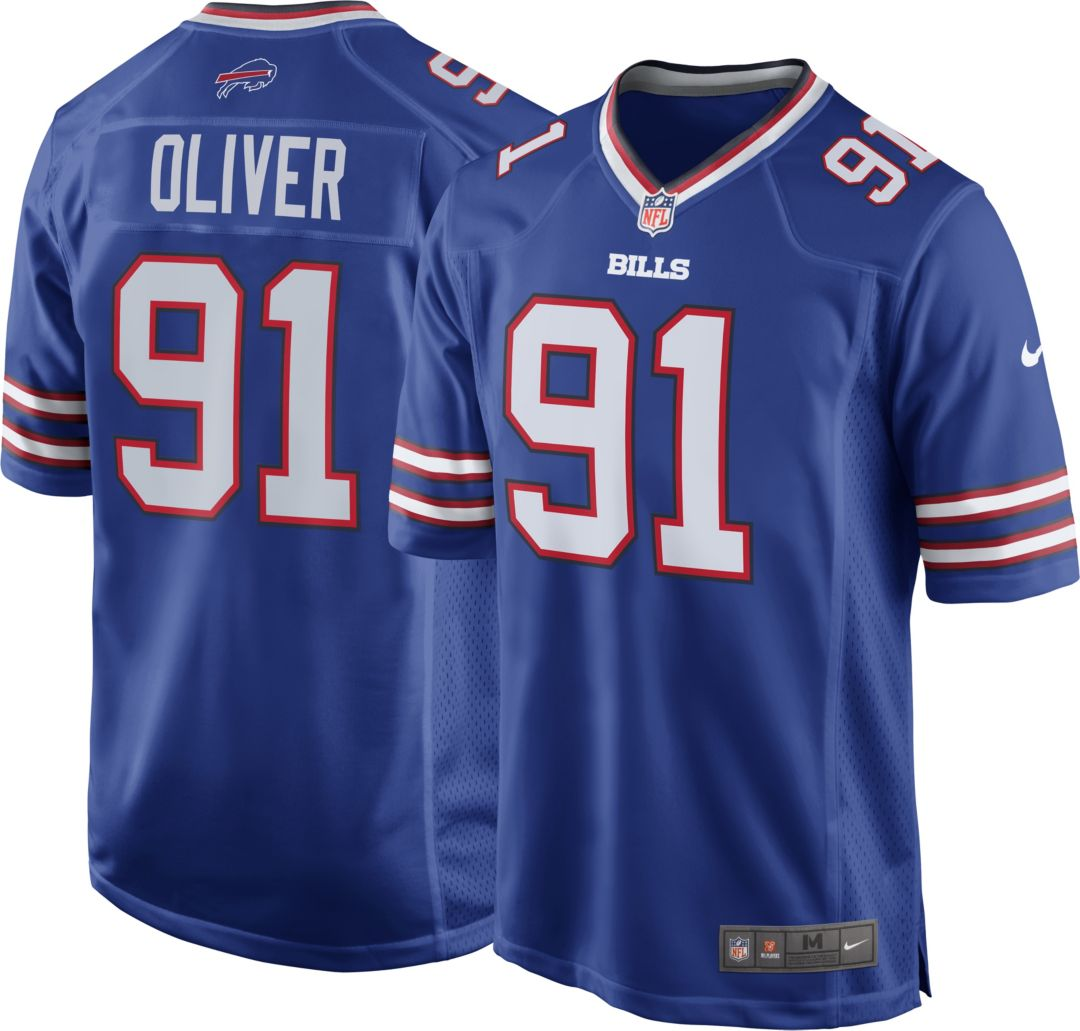newest 0446c 521f1 Nike Men's Home Game Jersey Buffalo Bills Ed Oliver #91