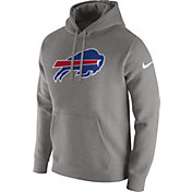 Nike Men's Buffalo Bills Logo Club Grey Hoodie