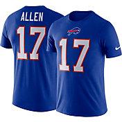 Nike Men's Buffalo Bills Josh Allen #17 Logo Royal T-Shirt