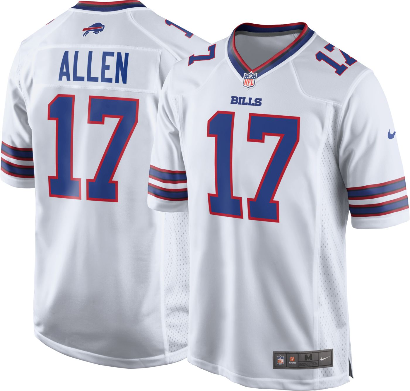 Nike Men's Away Game Jersey Buffalo Bills Josh Allen #17