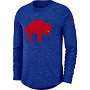 Nike Men's Buffalo Bills Marled Historic Performance Royal Long Sleeve Shirt