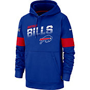 Nike Men's Buffalo Bills 100th Sideline Therma-FIT Royal Pullover Hoodie