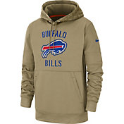 Nike Men's Salute to Service Buffalo Bills Therma-FIT Beige Camo Hoodie