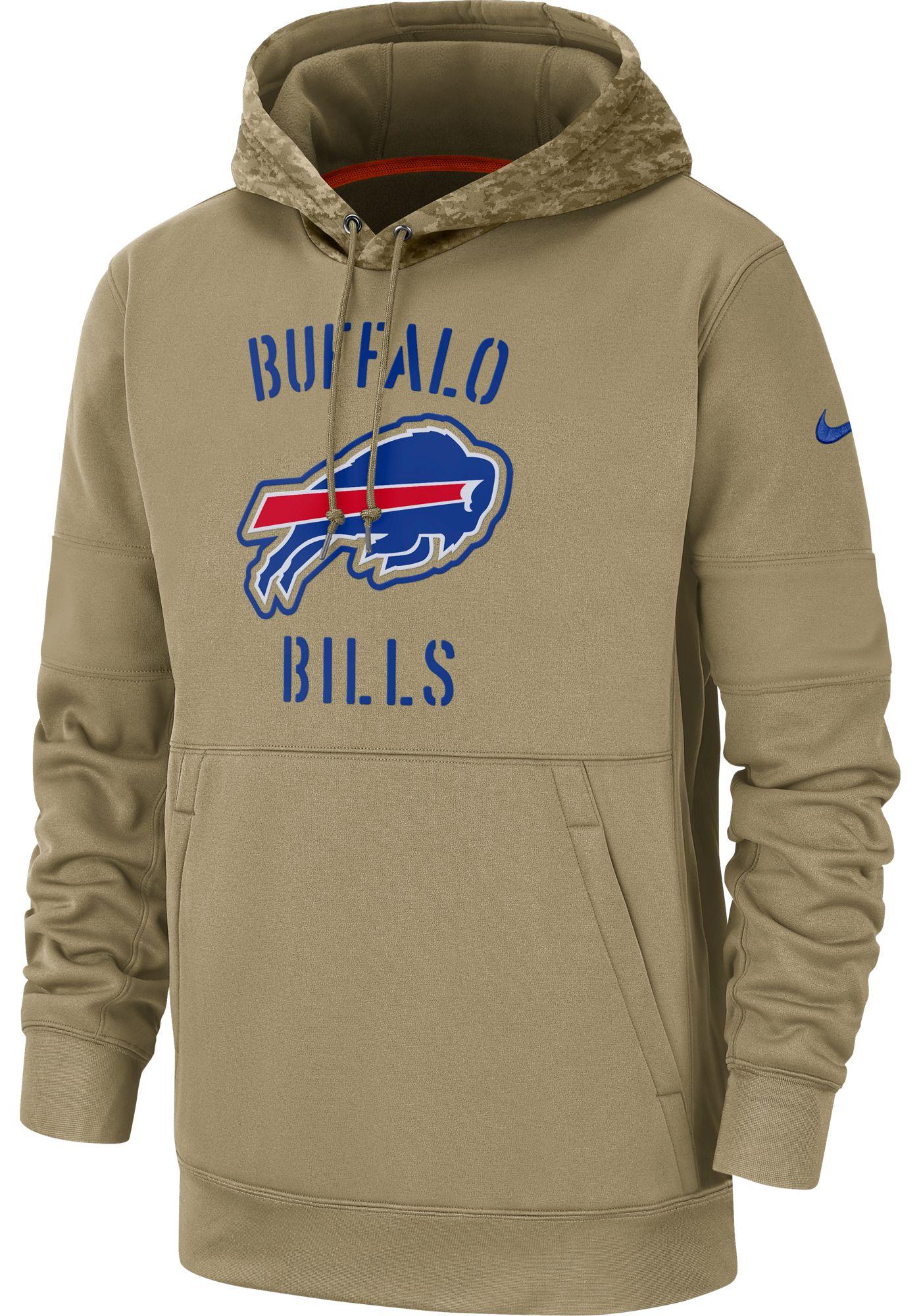 Nike Men's Salute to Service Buffalo Bills Therma-FIT Beige Camo Hoodie