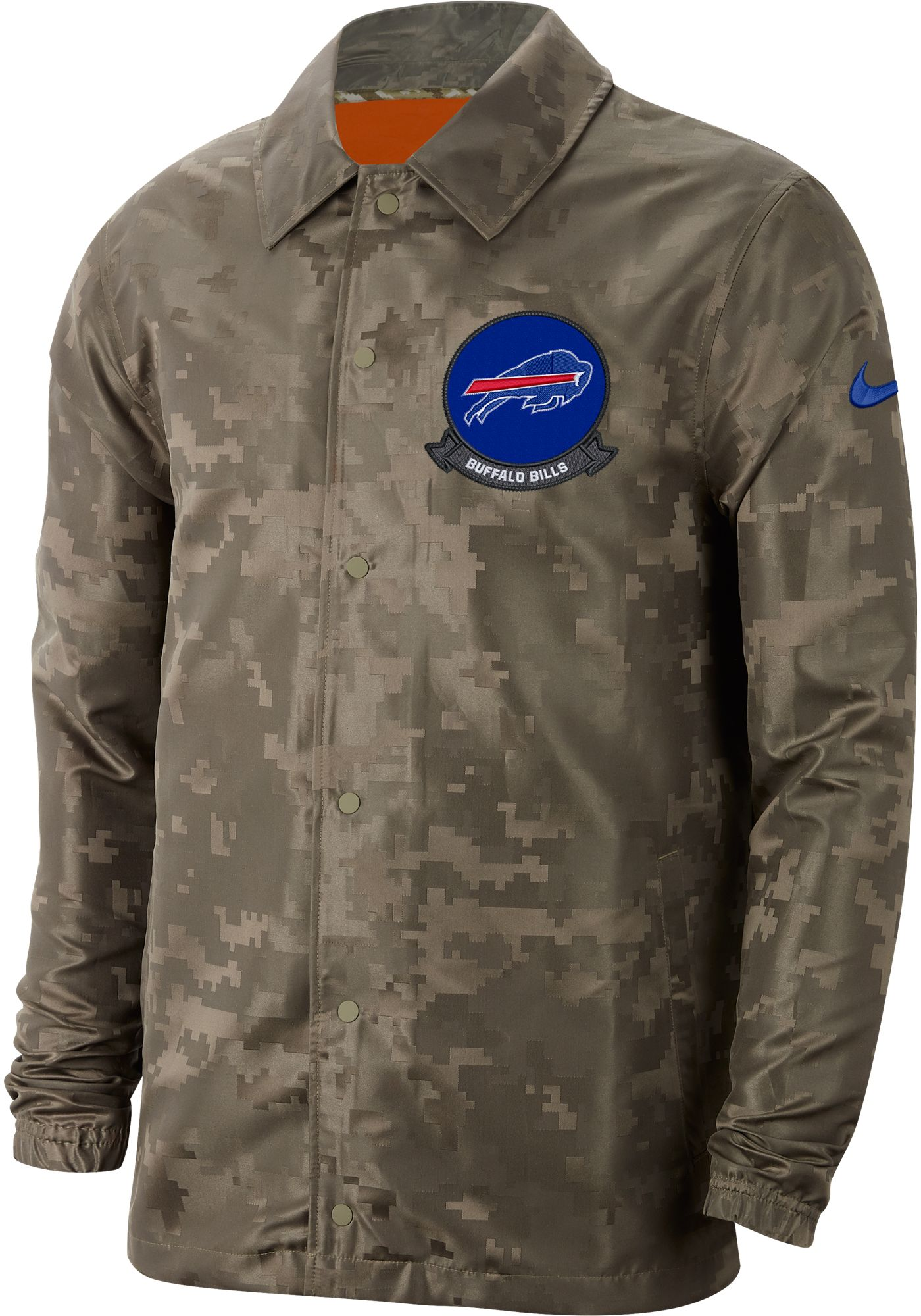 Nike Men's Salute to Service Buffalo Bills Olive Lightweight Camo Jacket
