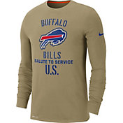 Nike Men's Salute to Service Buffalo Bills Dri-FIT Beige Long Sleeve Shirt
