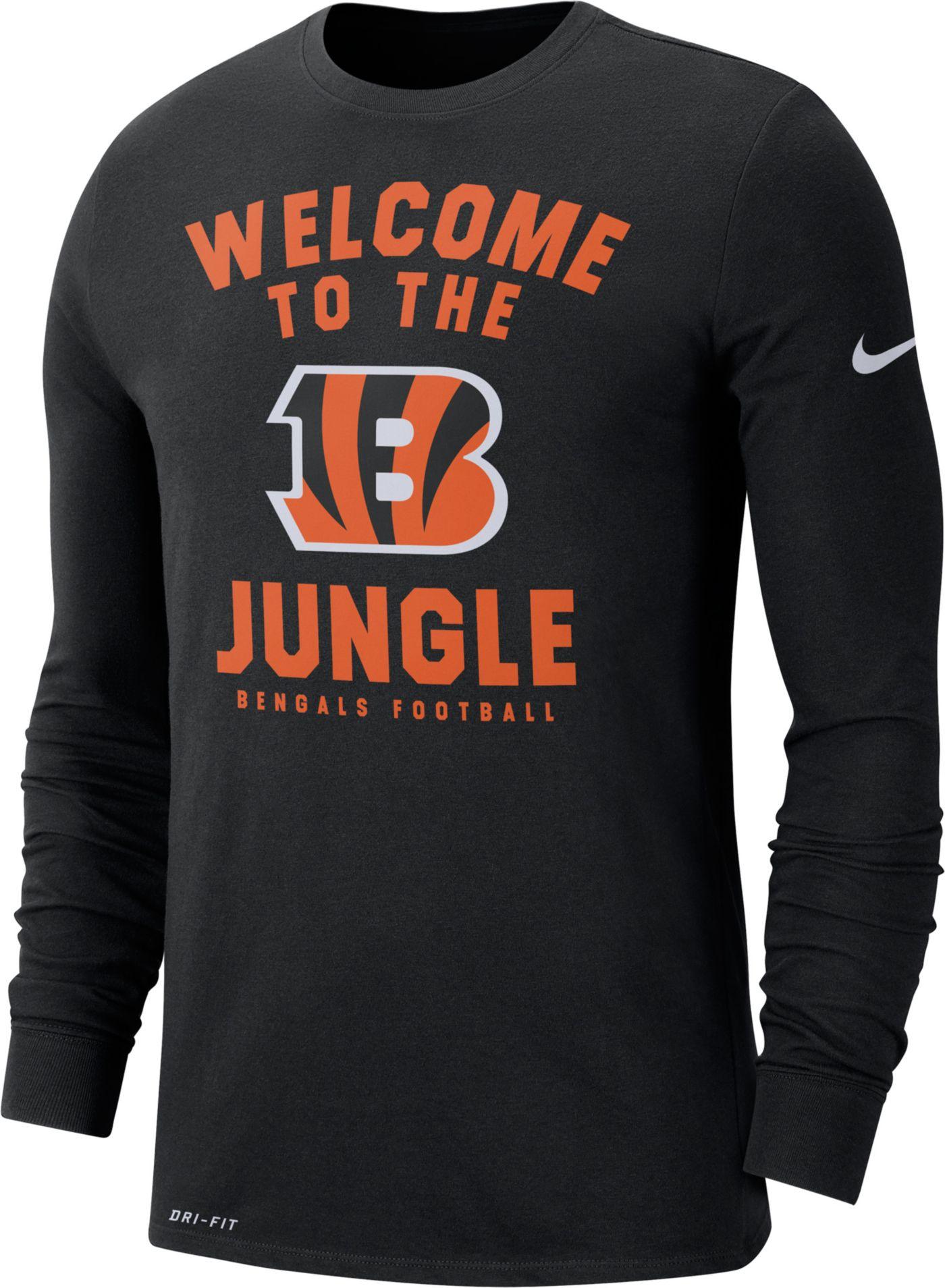 Nike Men's Cincinnati Bengals Local Long Sleeve Black Performance Shirt