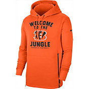 Nike Men's Cincinnati Bengals Sideline Therma-FIT Local Orange Performance Hoodie
