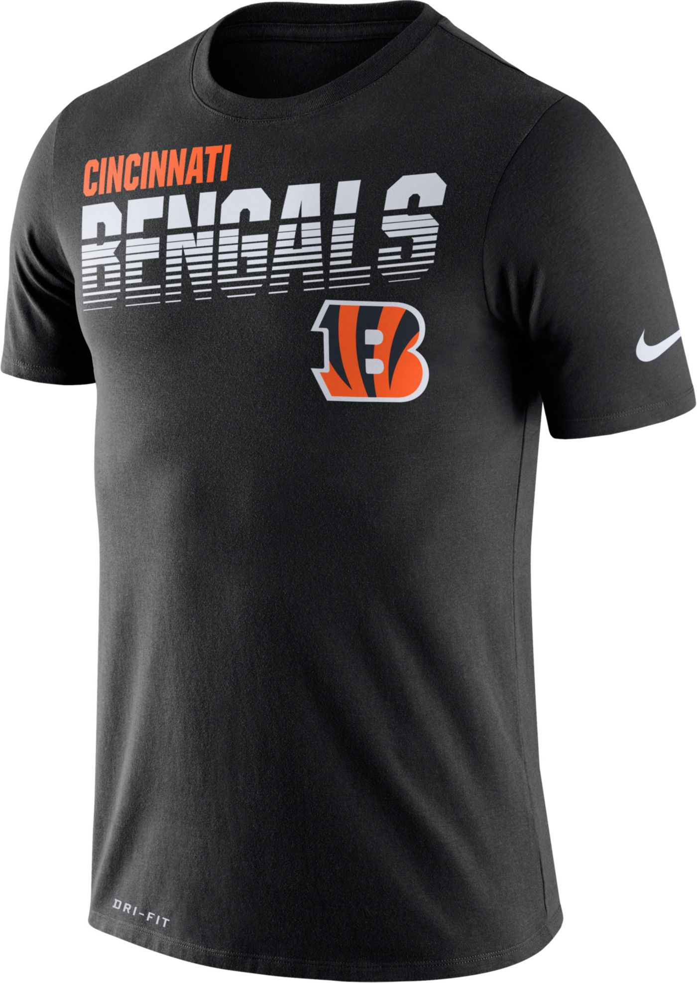 Nike Men's Cincinnati Bengals Sideline Legend Performance Black T-Shirt