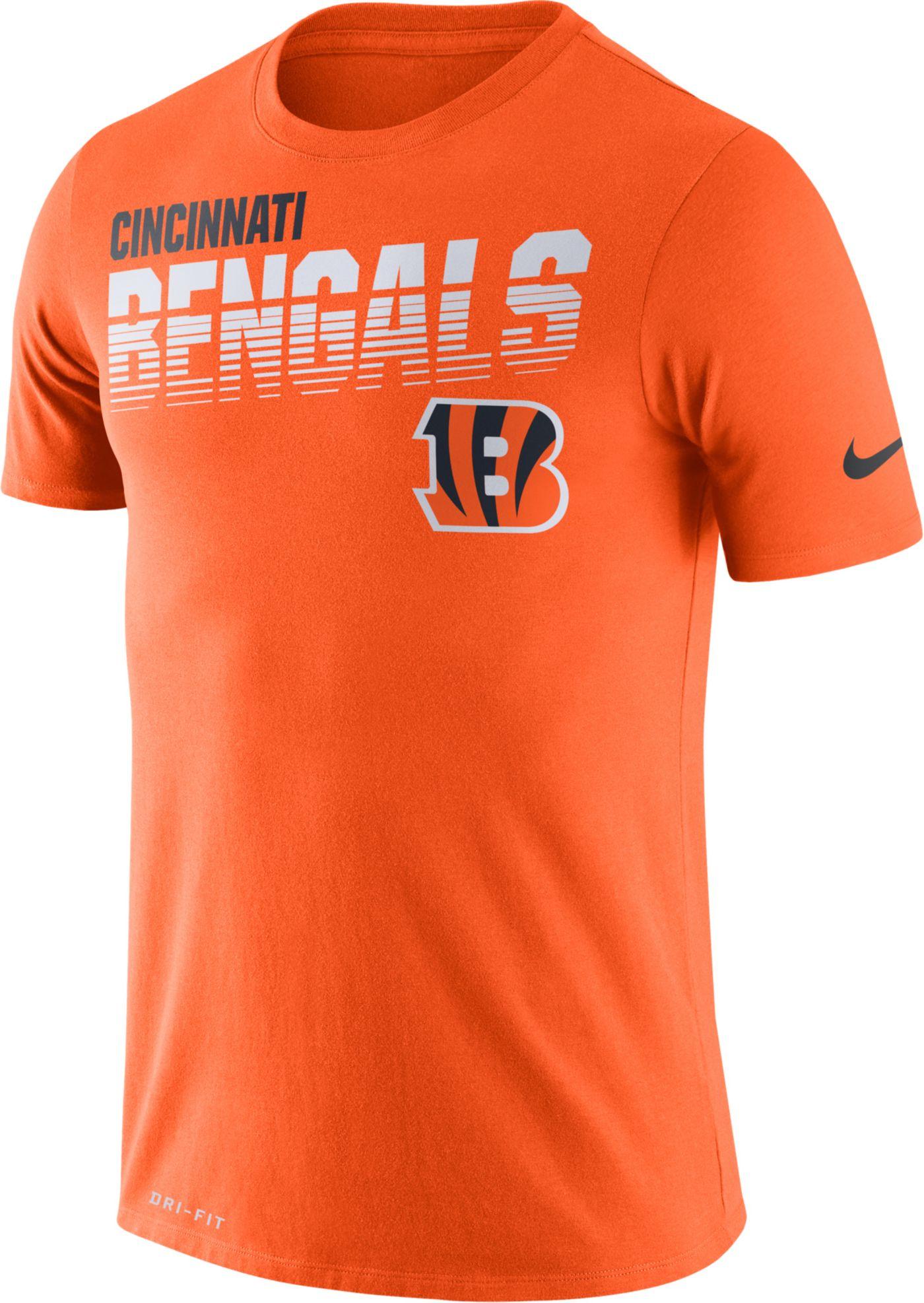 Nike Men's Cincinnati Bengals Sideline Legend Performance Orange T-Shirt
