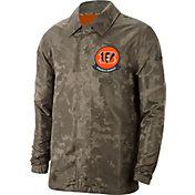 Nike Men's Salute to Service Cincinnati Bengals Olive Lightweight Camo Jacket
