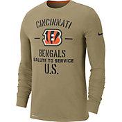 Nike Men's Salute to Service Cincinnati Bengals Dri-FIT Beige Long Sleeve Shirt