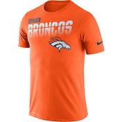 Nike Men's Denver Broncos Sideline Legend Performance Orange T-Shirt