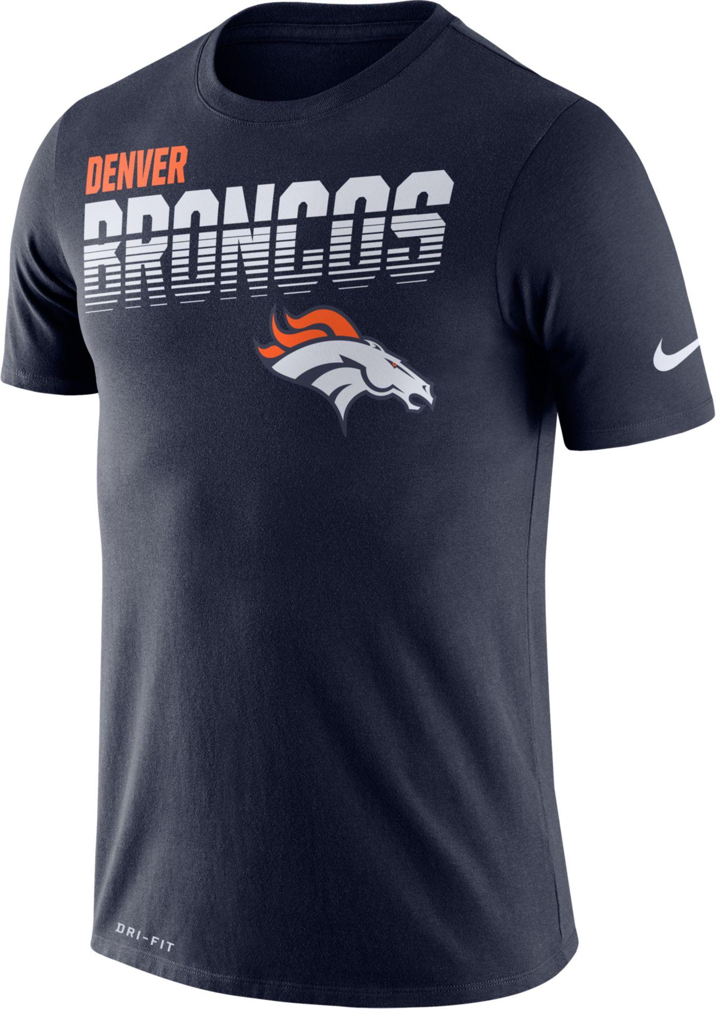 Nike Men's Denver Broncos Sideline Legend Performance Navy T-Shirt