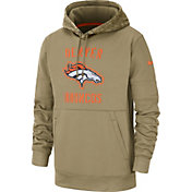 Nike Men's Salute to Service Denver Broncos Therma-FIT Beige Camo Hoodie