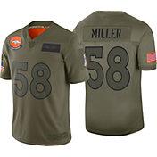 Nike Men's Salute to Service Denver Broncos Von Miller #58 Olive Limited Jersey