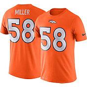 Nike Men's Denver Broncos Von Miller #58 Logo Orange T-Shirt