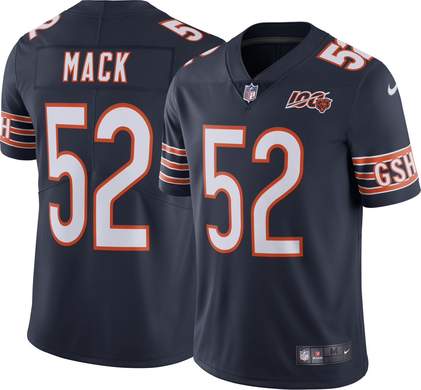 Nike Men's 100th Home Limited Jersey Chicago Bears Khalil Mack #52