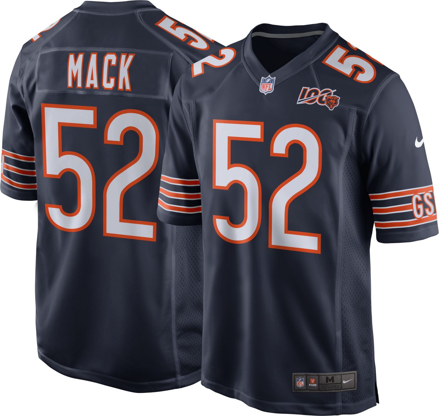 Nike Men's 100th Home Game Jersey Chicago Bears Khalil Mack #52