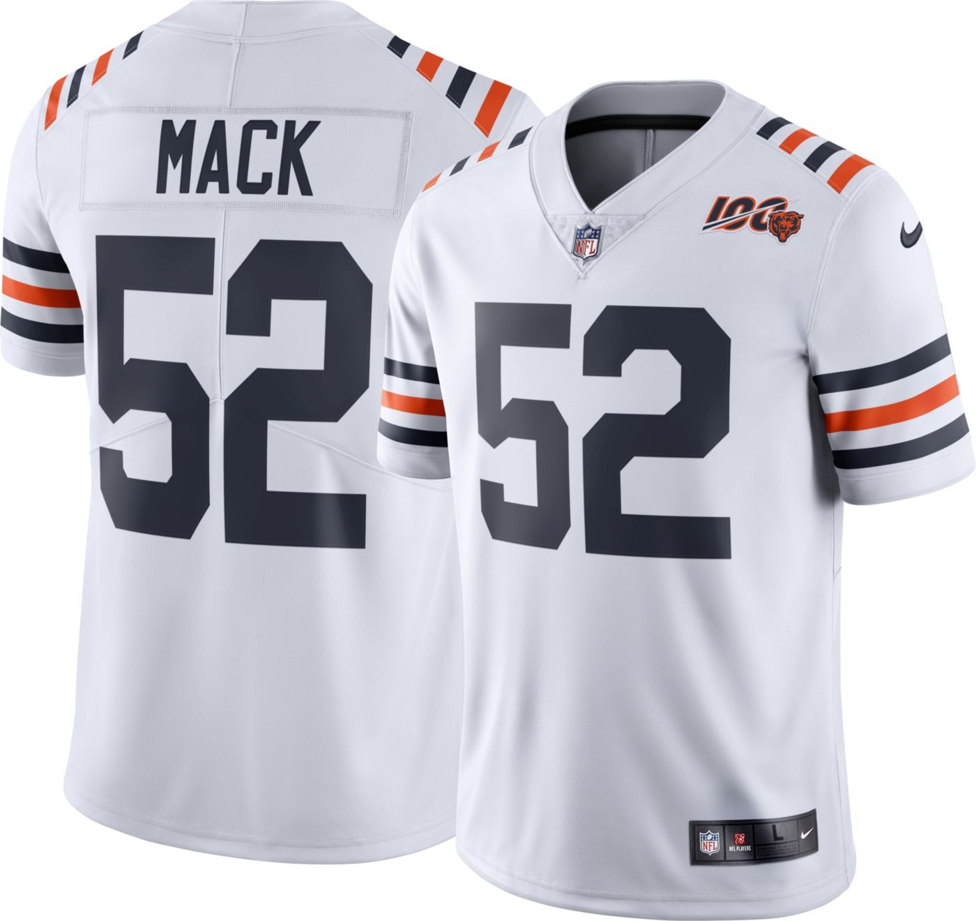 Nike Men's 100th Alternate Limited Jersey Chicago Bears Khalil Mack #52