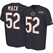 Nike Men's Chicago Bears Khalil Mack #52 100th Navy T-Shirt