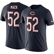 Nike Men's Chicago Bears Khalil Mack #52 Logo Navy T-Shirt