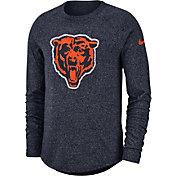 Nike Men's Chicago Bears Marled Historic Performance Navy Long Sleeve Shirt