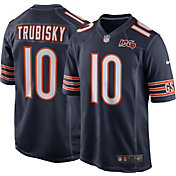 Nike Men's Chicago Bears Mitchell Trubisky #10 100th Navy Game Jersey
