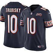 Nike Men's Chicago Bears Mitchell Trubisky #10 100th Navy Limited Jersey