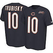 Nike Men's Chicago Bears Mitchell Trubisky #10 100th Navy T-Shirt