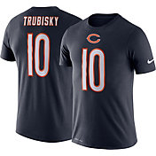 Nike Men's Chicago Bears Mitchell Trubisky #10 Logo Navy T-Shirt