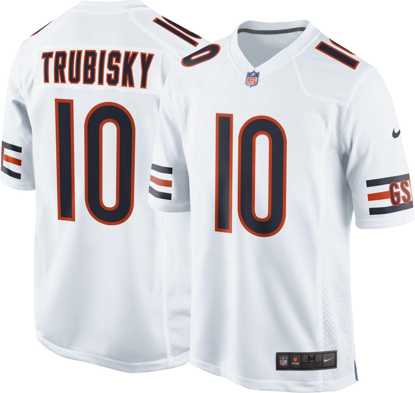Nike Men's Away Jersey Chicago Bears Mitchell Trubisky #10