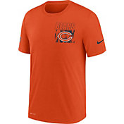 Nike Men's Chicago Bears Sideline Dri-FIT Cotton Facility Orange T-Shirt