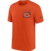 Nike Men's Chicago Bears Sideline Dri-FIT Cotton Facility Orange T-Shirt