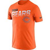 Nike Men's Chicago Bears Sideline Legend Performance Orange T-Shirt