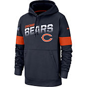 Nike Men's Chicago Bears 100th Sideline Therma-FIT Navy Pullover Hoodie
