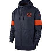 Nike Men's Chicago Bears Sideline Therma-FIT Navy Full-Zip Hoodie