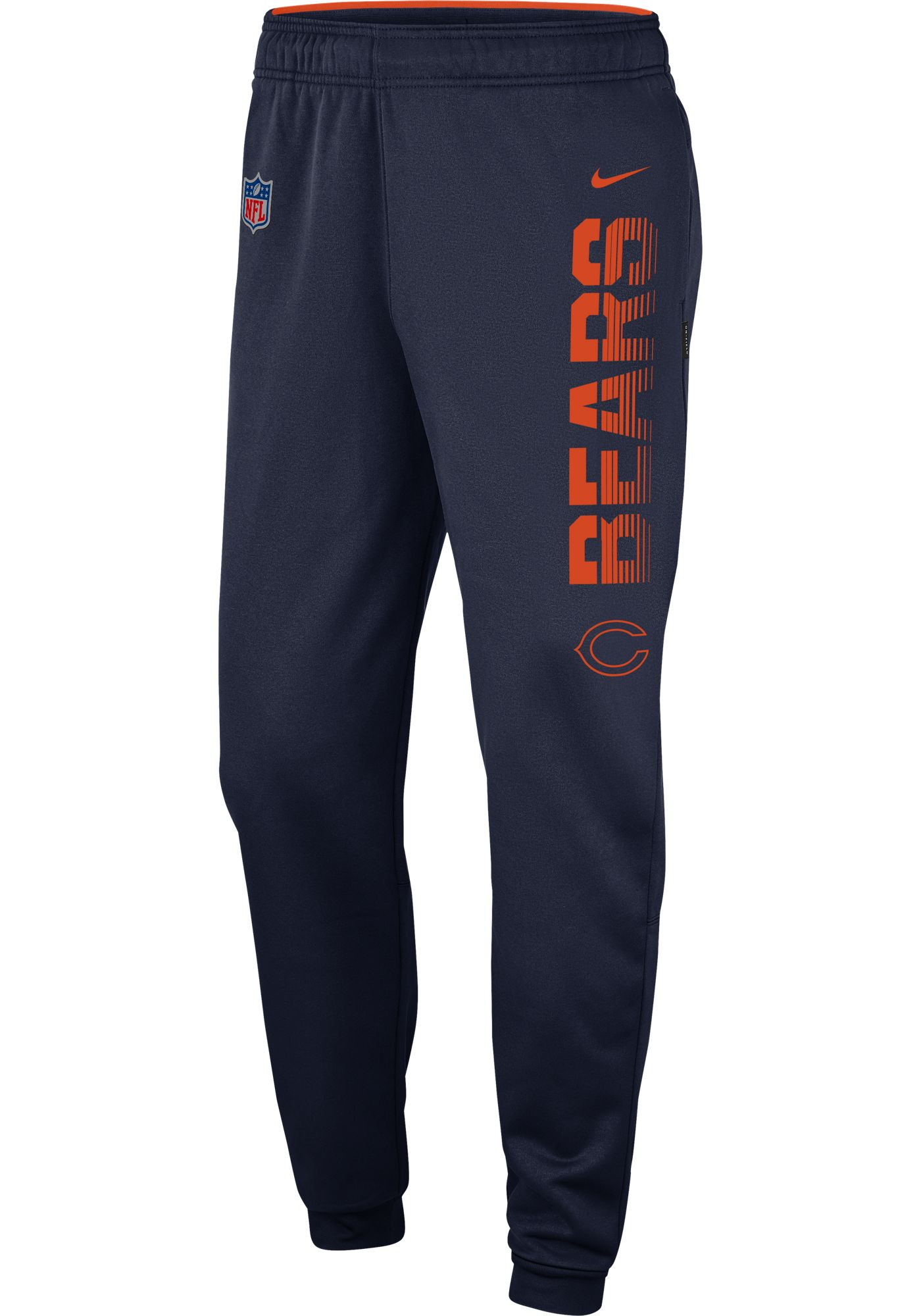 Nike Men's Chicago Bears Sideline Therma-FIT Performance Navy Pants