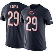 Nike Men's Chicago Bears Tarik Cohen #29 Logo Navy T-Shirt