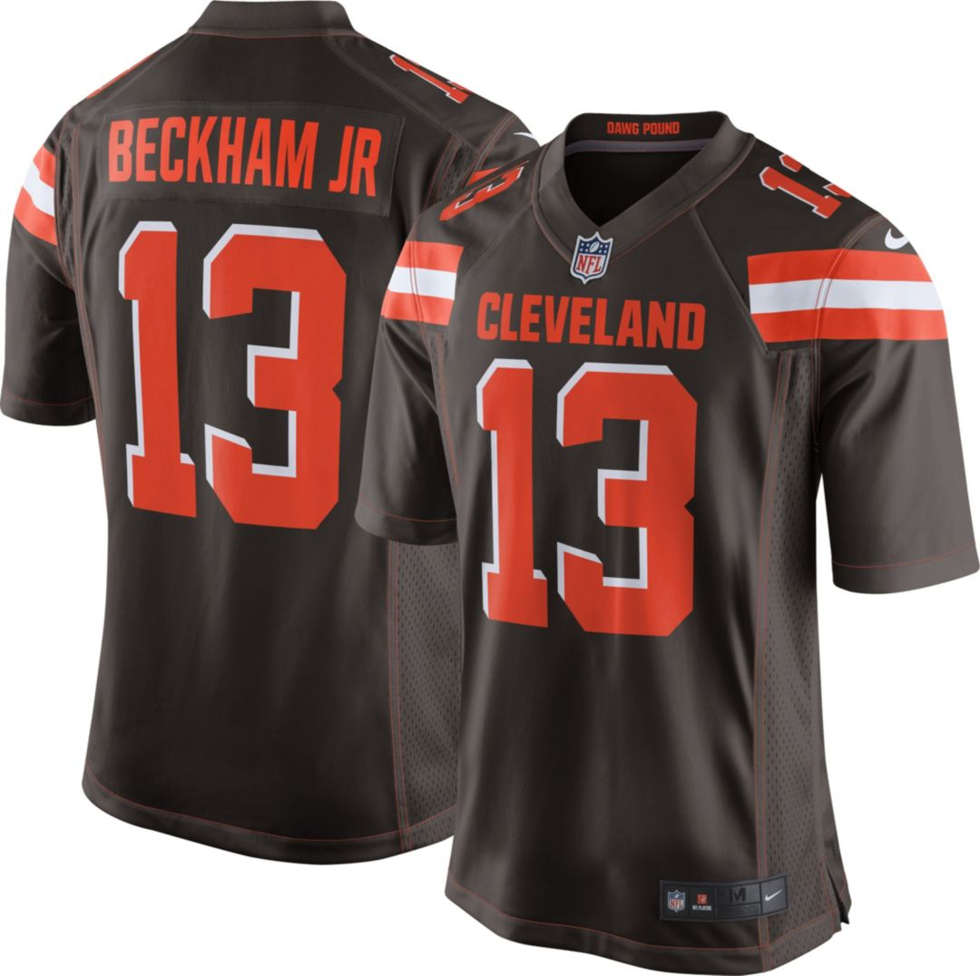 separation shoes 25880 60213 Nike Men's Home Game Jersey Cleveland Browns Odell Beckham Jr. #13