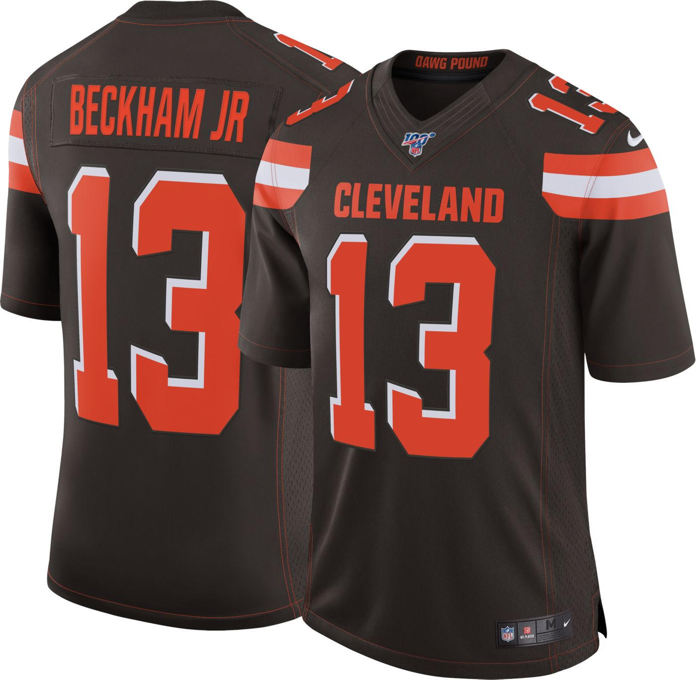 Nike Men's 100th Home Limited Jersey Cleveland Browns Odell Beckham Jr. #13
