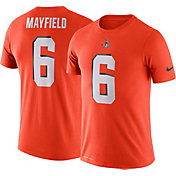 Nike Men's Cleveland Browns Baker Mayfield #6 Logo Orange T-Shirt