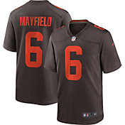 Nike Men's Cleveland Browns Baker Mayfield #6 Brown Game Jersey