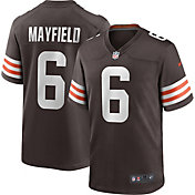 Nike Men's Cleveland Browns Baker Mayfield #6 Home Brown Game Jersey